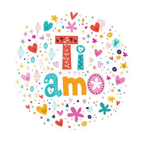 ti amo lettere ti amo ti amo in mano italiana che segna progettazione con
