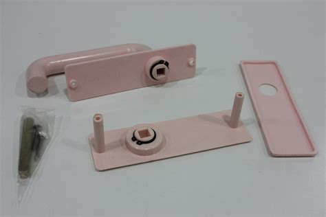 Bathroom Door Lock Repair Pvc Door Handle W Plate Pink 115mm A Tech