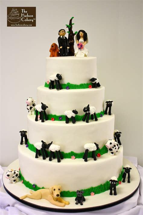 farm wedding cake  hudson cakery