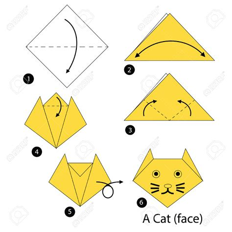 Difficult Origami Diagrams - origami origami cat do origami origami cat