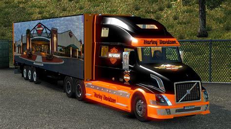 volvo truck trailer volvo vnl 780 harley davidson 17 trailer 1 18 ets2