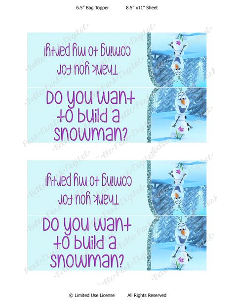 free printable olaf thank you 7 best images of olaf free printable thank you tags olaf