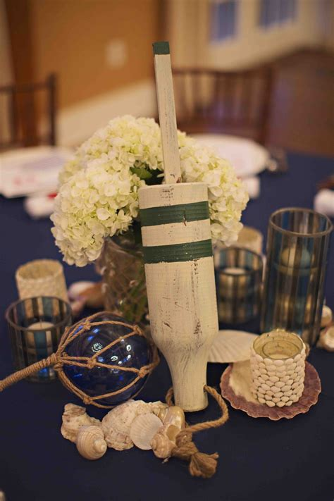centerpieces for rehearsal dinner rehearsal dinners photos wooden buoy centerpiece