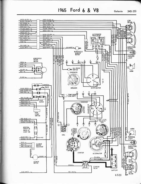 57-65 Ford Wiring Diagrams | Electrical wiring diagram