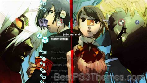 theme psp persona 3 persona3 best ps3 themes
