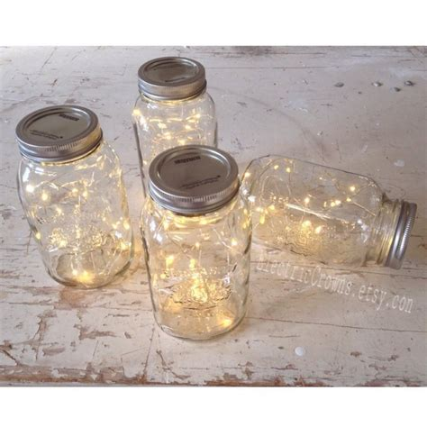 diy lights in a jar 12 jar lights rustic wedding decorations vintage