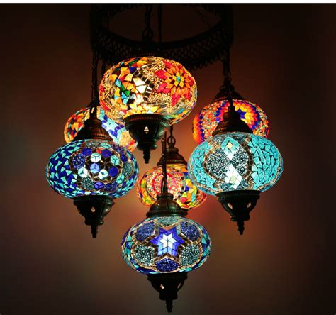 multicolour turkish moroccan style large mosaic hanging