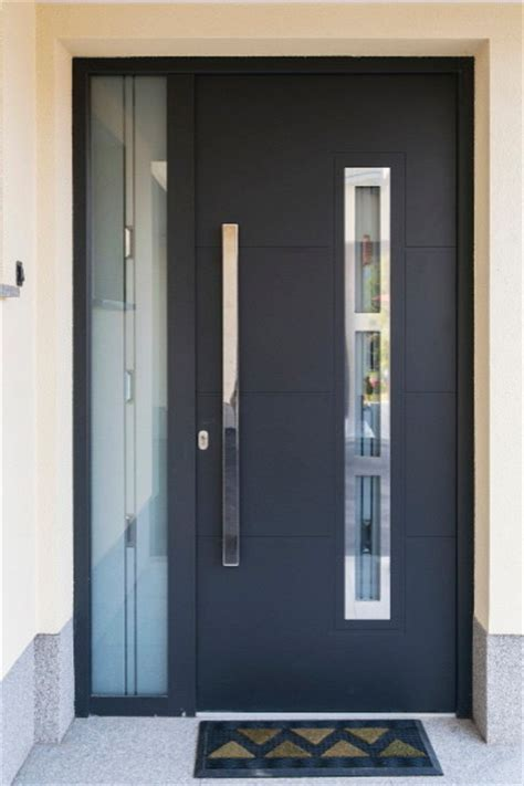 contemporary entry doors modern front entry door with a sidelite modern front doors new york by ville doors
