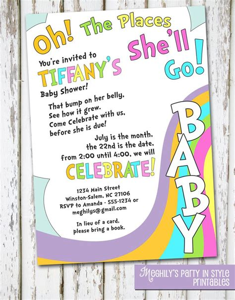 Do Go To Baby Showers by Oh The Places You Ll Go Baby Shower Invitation Baby