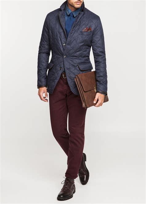 Jaket Hushkies lyst mango herringbone husky jacket in blue for