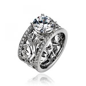 wide band engagement rings chad allison 18k white gold wide band engagement ring jewelers augusta ga