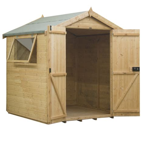 mercia 8ft x 6ft shiplap tongue and groove apex shed 163 574 99