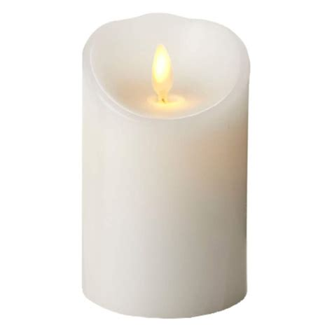 luminara 00496 3 quot x 4 quot white unscented wavy edge