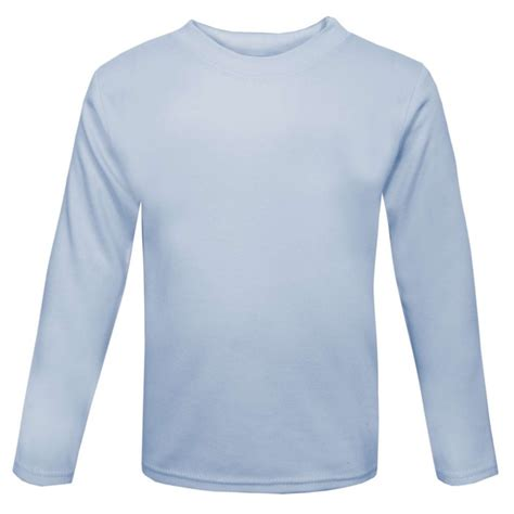 baby blue sleeve baby and toddler blank sleeve t shirt in light blue