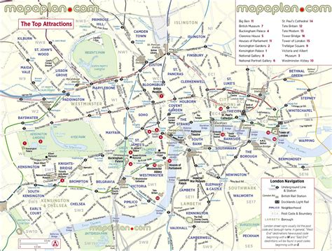 Maps Update #16001127: London Tourist Attractions Map ...