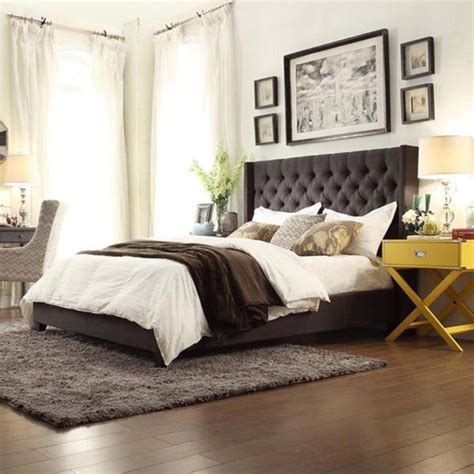 grey wingback bed 1000 ideas about grey upholstered headboards on pinterest