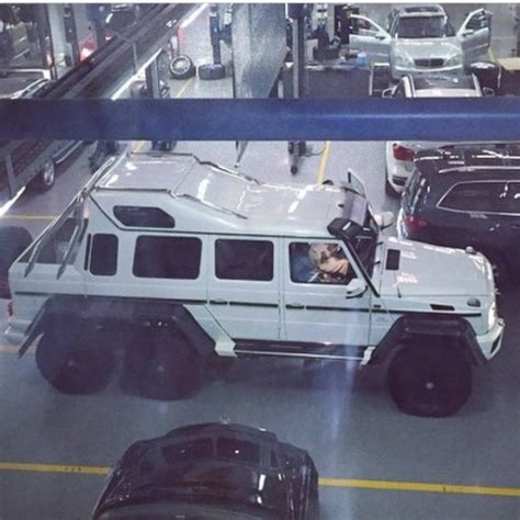 Handmade Mercedes - custom mercedes g63 6x6 limo spotted at amg