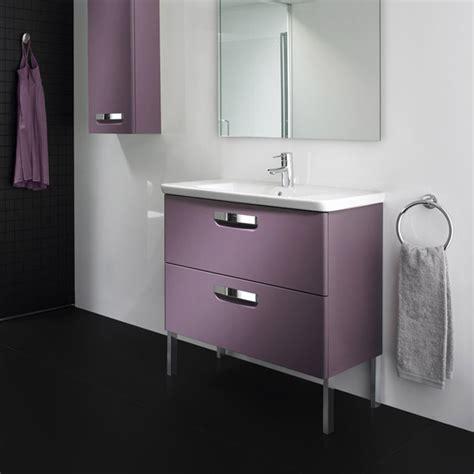 roca bathroom vanity units roca the gap unik wall hung vanity unit 600mm matt grape