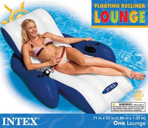 Intex Floating Recliner Lounge Intex Floating Recliner Lounge W Cup Holders 58868e Ebay