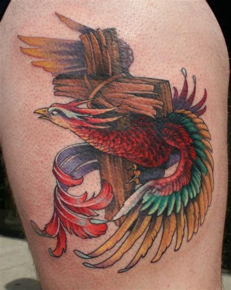 phoenix tattoo heart 30 groovy cross tattoo designs ideas tutorialchip
