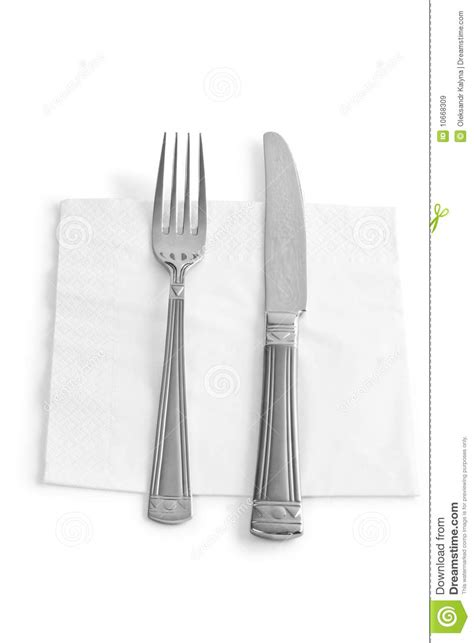 kitchen forks and knives two kitchen utensils fork and knife isolated royalty free
