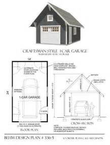 Size Of Single Car Garage One Car Garage Has Craftsman Styling With Roof Brackets
