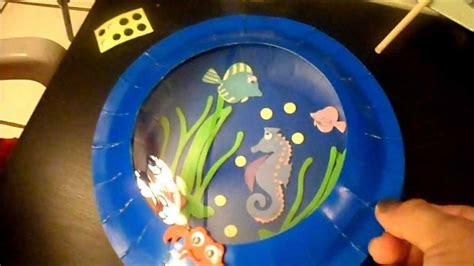 How To Make A Paper Aquarium - crafts aquarium card and plate