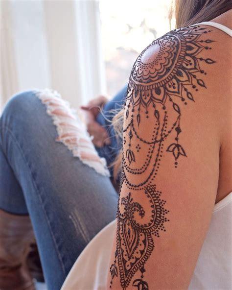 henna tattoo selber machen schulter arm modern arts