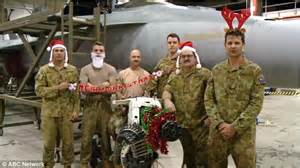 merry christmas messages  soldiers  sailors serving overseas revealed daily mail