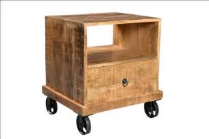 industrial end table with wheels timbergirl