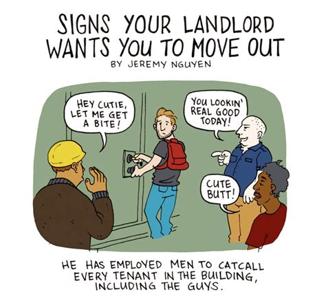 7 Signs You Need To Move Out Of Your Home by Signs Your Landlord Wants You To Move Out Comic Bushwick