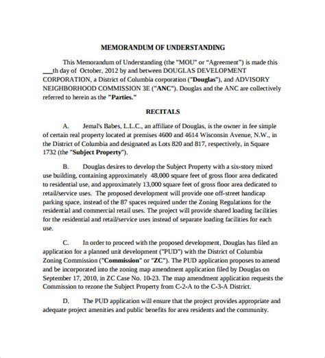 100 memorandum of understanding form pdf ball state email