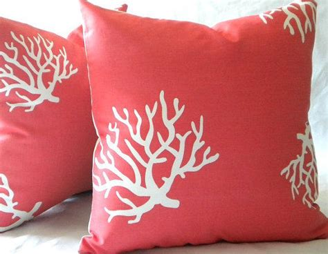 Decorative Coral Pillows by Decorative Throw Pillow Cover Coral And From Mica Blue Design