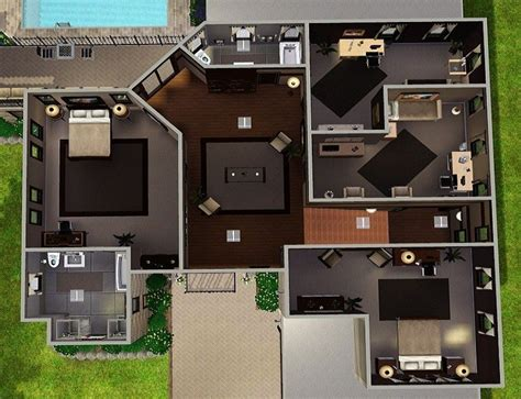 sims 3 buy new house sims 3 floor plans modern thefloors co
