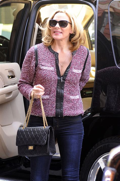 Cattralls Chanel Purse cattrall in cattrall out in nyc zimbio