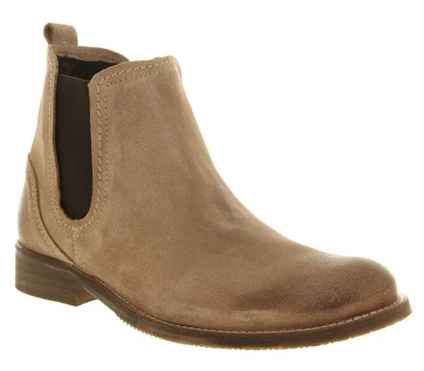 mens ask the missus gordon chelsea boot beige suede boots