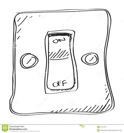 simple doodle of a switch stock vector image of