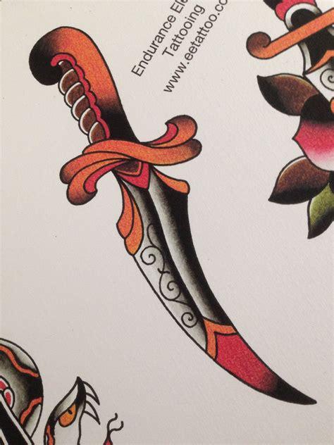 traditional dagger tattoo amsterdam school dagger www eetattoo trad