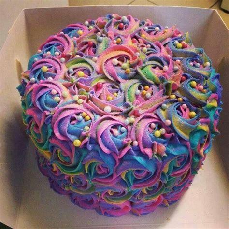Rainbow rose cake   Lezbihonest   Pinterest   Rainbow