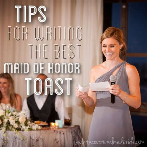 8 Tips On Being A Of Honor by The World S Catalog Of Ideas