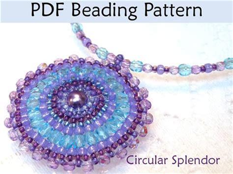 free brick stitch seed bead patterns circular brick