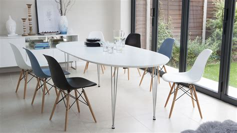 White Modern Oval Dining Table Design Extend One Modern Modern White Dining Table