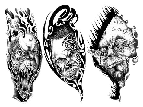 tattoo 3d png tattoo with transparent background img35 171 black and white