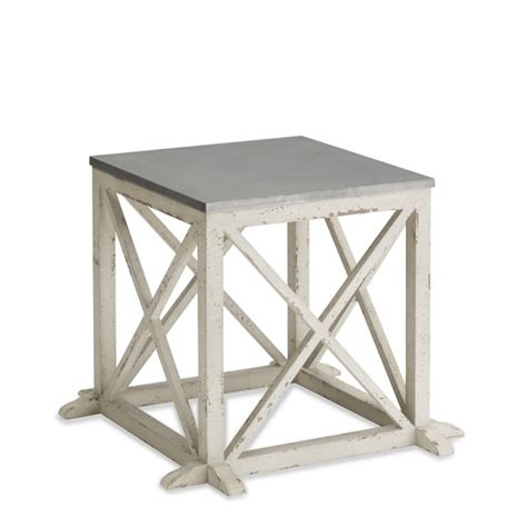 Zinc Side Table Zinc Topped Side Table Williams Sonoma