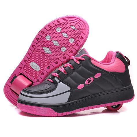 roller shoes high quality one wheel children flying shoes boys and