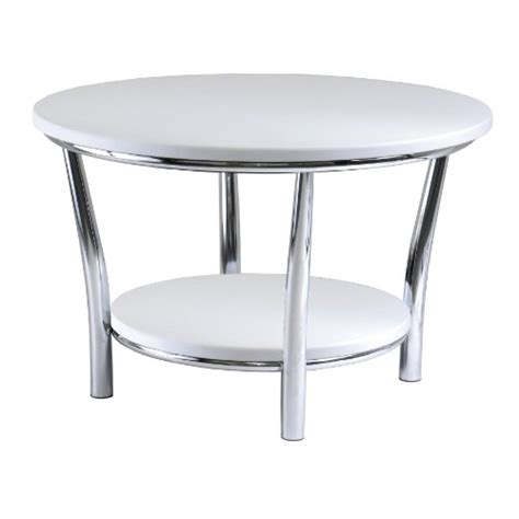 winsome wood coffee table white top metal