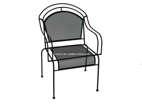 wrought iron mesh patio furniture china outdoor wrought iron mesh chair c 057 china dining chair mesh chair