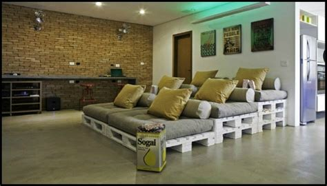 movie theater with loveseats build a movie theater sofa from pallets diy projects for