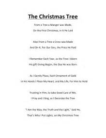 christmas tree poem