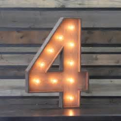 Fourlights by Edison Marquee Number Quot 4 Quot Town Amp Country Event Rentals